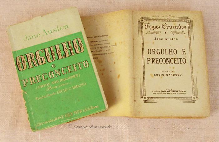 Primeiras traduções de Jane Austen no Brasil - Orgulho e preconceito