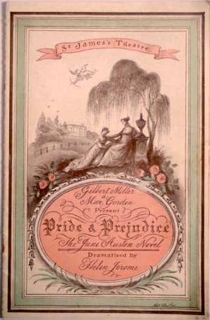 Pride and Predudice, programa de teatro 1936