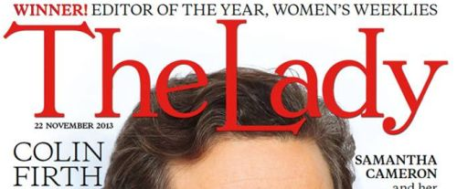 Colin Firth, The Lady Magazine