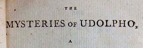 Os mistérios de Udolpho, Ann Ward Radcliffe