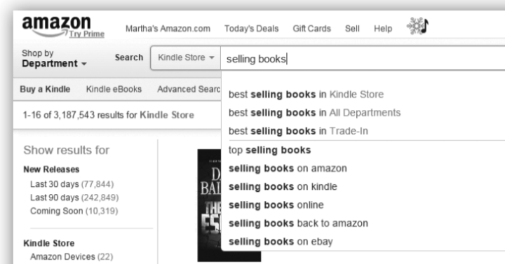 Amazon selling books search