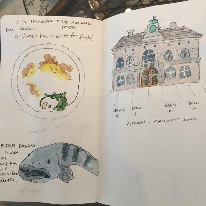 Yi Shun Lai watercolor notebook two