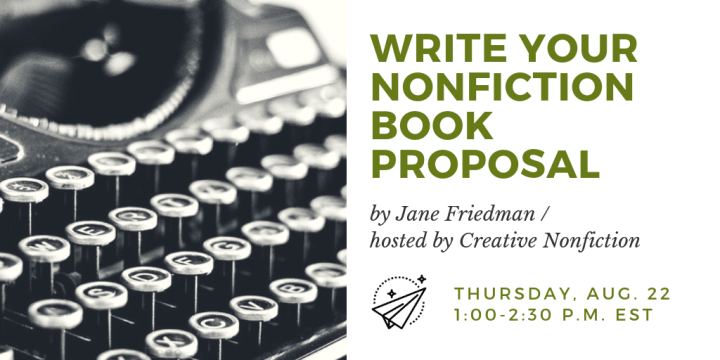 Friedman Write Nonfiction Book Proposal webinar