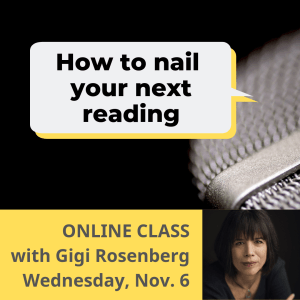 Nail Your Next Reading by Gigi Rosenberg on Nov. 6