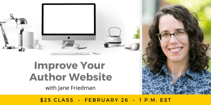 Improve Your Author Website with Jane Friedman