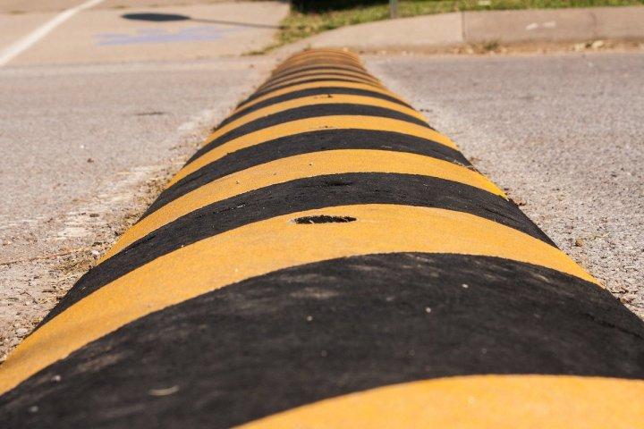 Image: speedbump in road