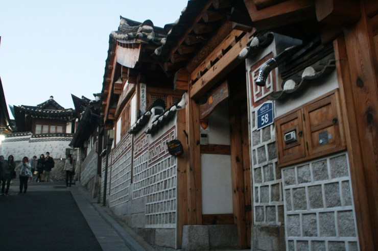 hanok houses in bukchong hanok village