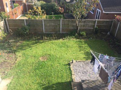 photo of existing garden