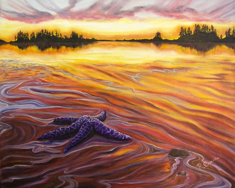 Painting by Rachel Cruse