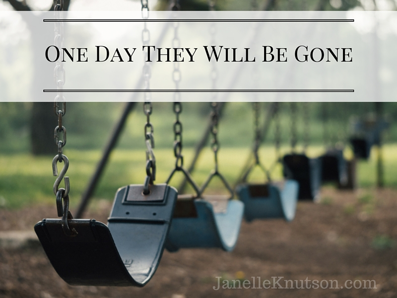 One Day They Will Be Gone