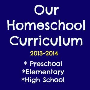 homeschool curriculum 2013-2014