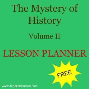 the mystery of history lesson planner