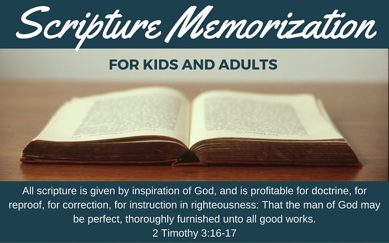 scripture memorization for kids and adults
