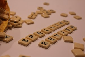 Use game tiles to spell out your spelling words