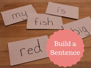 Build a sentence with spelling words