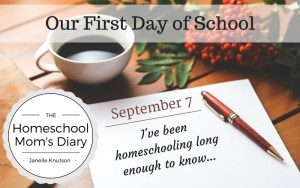 Our First Day of School