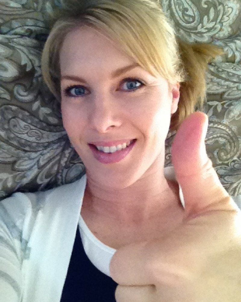"""""""Thumbs up"""" I made it through our first day of homeschooling for the new school year!"""