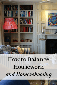 How to Balance Housework and Homeschooling