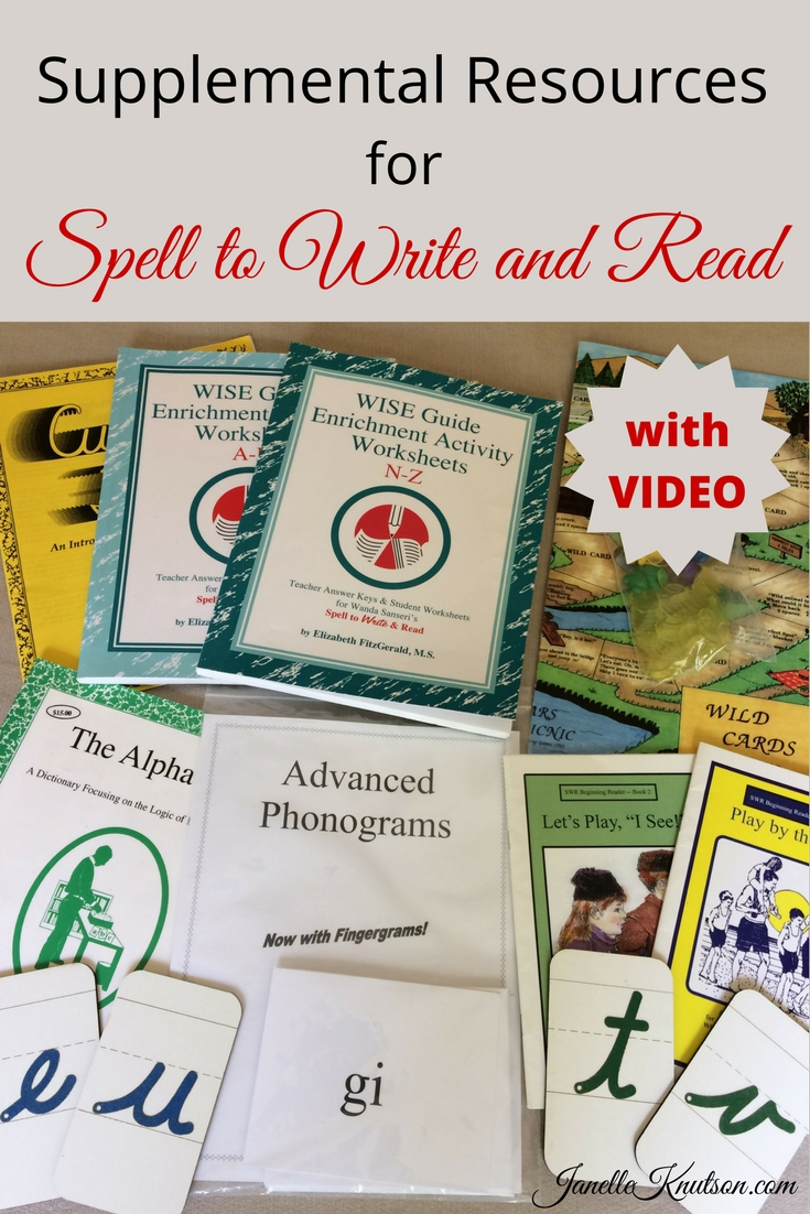 Great resources to use with the Spell to Write and Read program. Video review too!