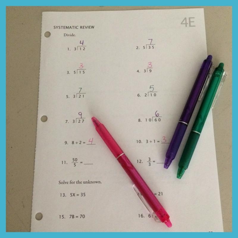 Make Math-U-See even more enjoyable with colorful erasable pens.