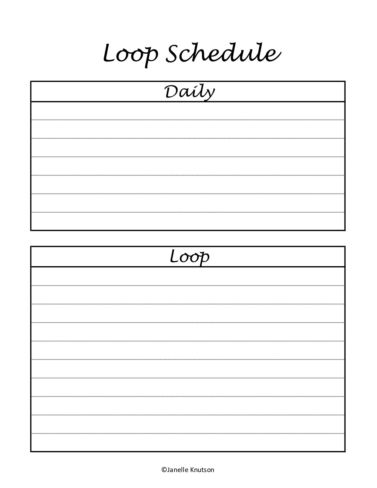 photograph relating to Loop Schedule Printable known as Homeschool Planner Printable Detailed Pack