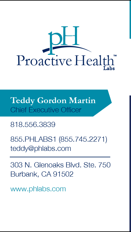 Business Card Design for Proactive Health