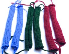 knitted strips
