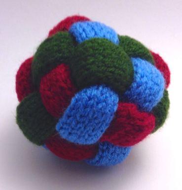 knit braided ball