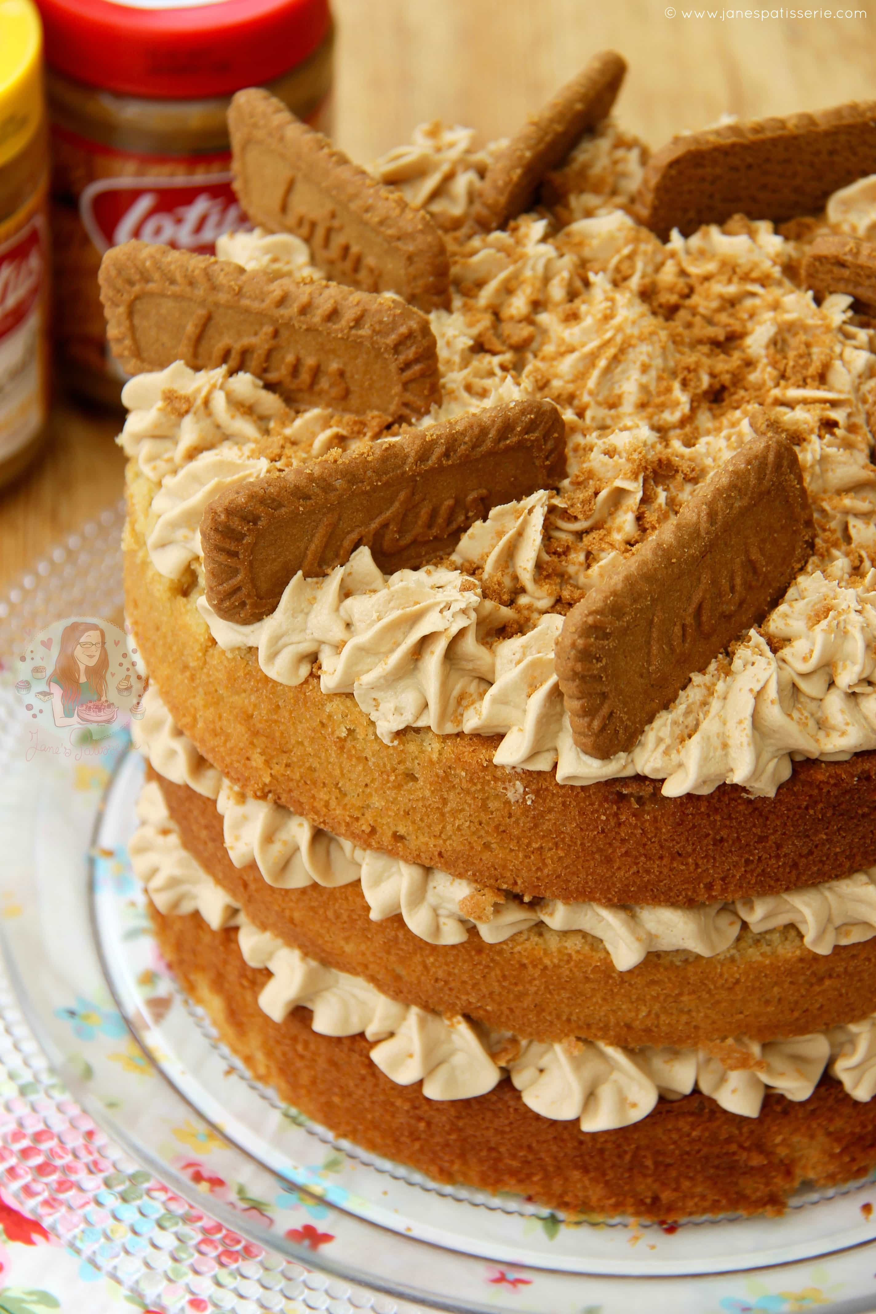 Biscoff Biscuit Cake Recipe