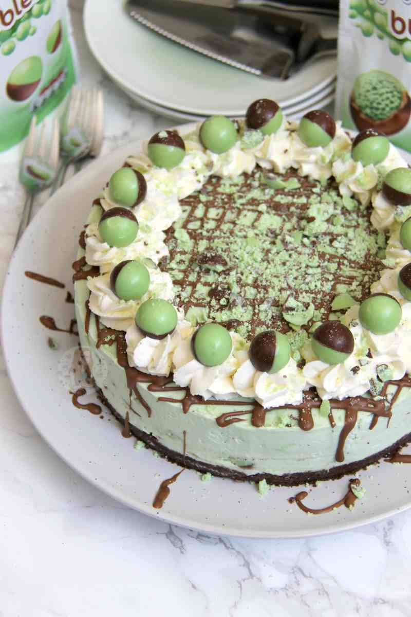 No-Bake Mint Aero Cheesecake!