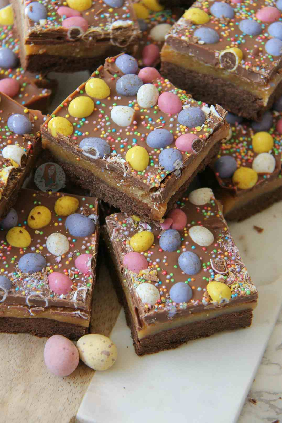 Easter Chocolate Millionaires Shortbread