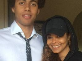 Janet Jackson and godson Tyler Harris at his graduation