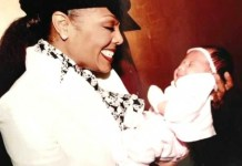 Janet Jackson with baby
