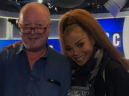Janet Jackson and Steve Allen from LBC