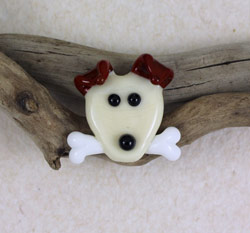 Dog and Bone Bead by Janet Crosby