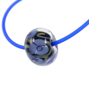 Glass Flower Globe Necklace by Janet Crosby