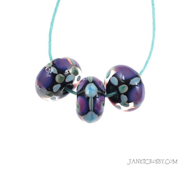 Electric - Lampwork Glass Beads by Janet Crosby