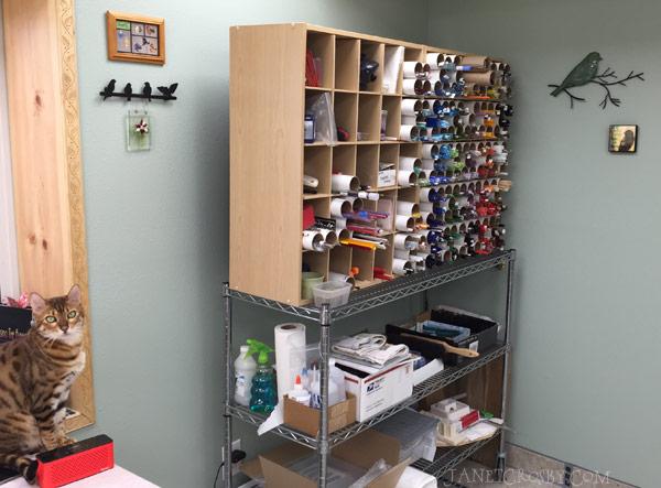 Finished Studio Glass Storage - www.janetcrosby.com