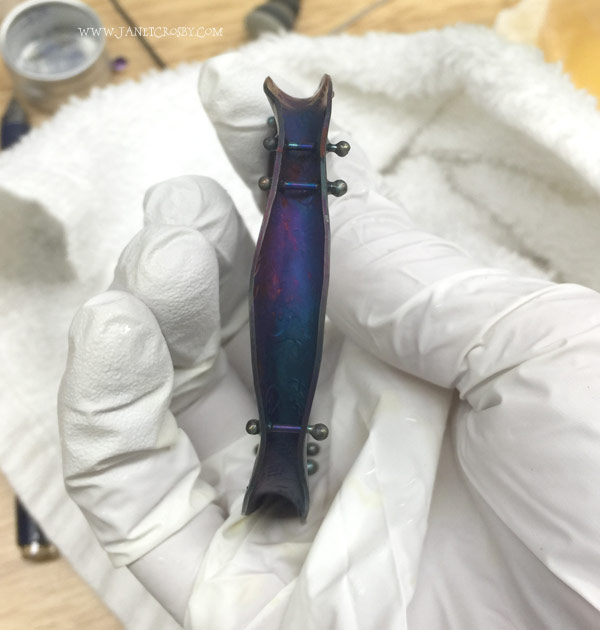Colored Bracelet in progress