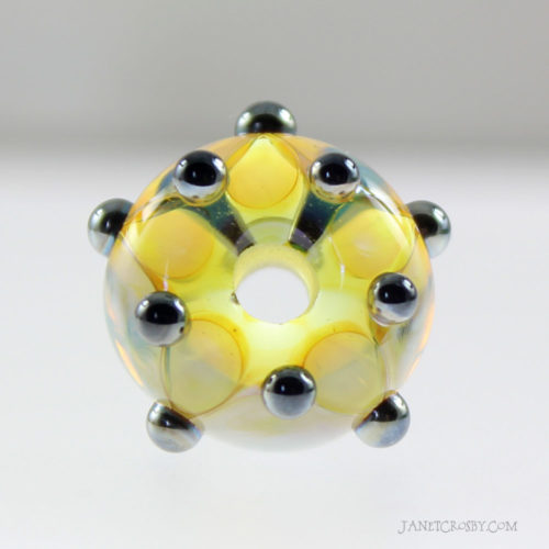 Silver Dot Bead on Clear - janetcrosby.com