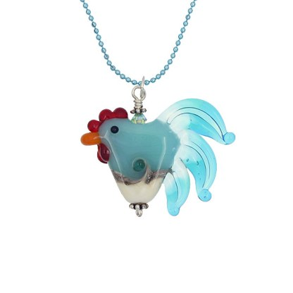 Chicken Of The Sea Necklace by Janet Crosby