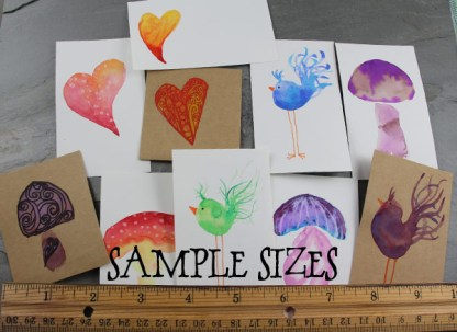 Mini Watercolor Cards Sample Sizes by Janet Crosby