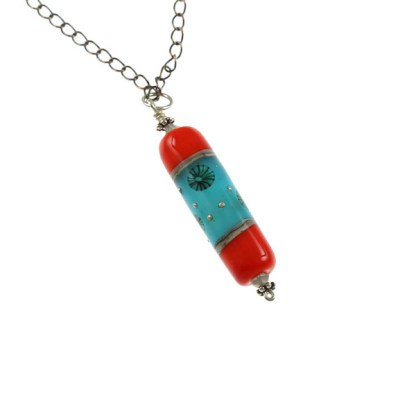Under The Sea Focal Necklace by Janet Crosby