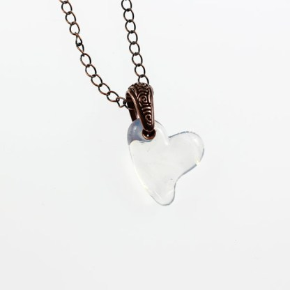 In the Clouds Heart Necklace by Janet Crosby