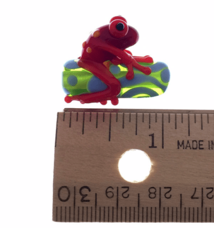 Red Zinger Frog Bead by Janet Crosby