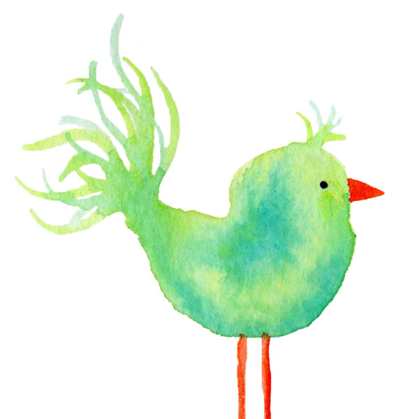 Green Bird by Janet Crosby