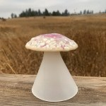 Forest Rose mushroom lamp by Janet Crosby