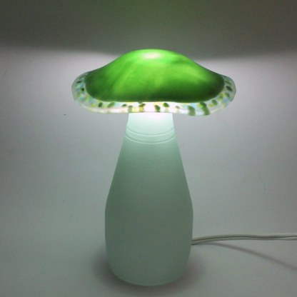 Green Wave mushroom lamp by Janet Crosby