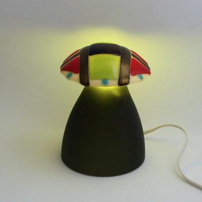 Geometrix 1 mushroom lamp by Janet Crosby