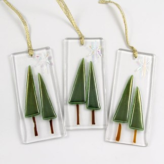 Ornament - Double Trees by Janet Crosby